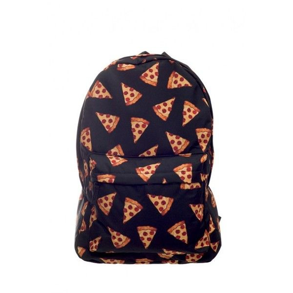 Pizza is Life Backpack in Black Sincerely Sweet Boutique (€36) ❤ liked on Polyvore featuring bags, backpacks, accessories, backpacks bags, rucksack bag, day pack backpack and knapsack bags