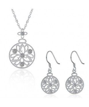 Floral Pendant Jewellery Set