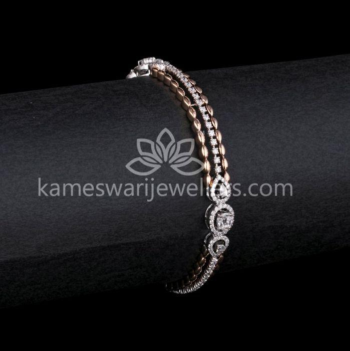 Buy Bangles Online | Gracious Diamond Bangle from Kameswari ...