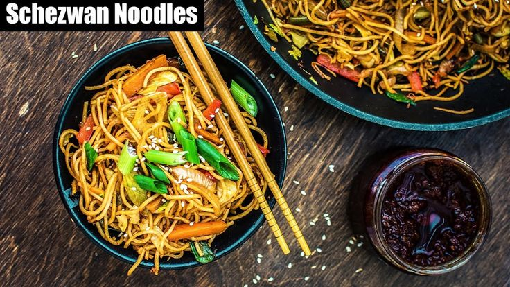 Veg Schezwan Noodles - Easy and Quick Homemade Chinese Noodles Recipe | ...