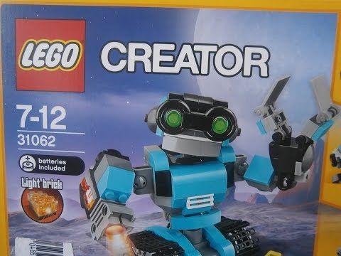 Kinder Lego Fan: Robot Prieskumník Lego Creator 31062 Svietiaca koc...