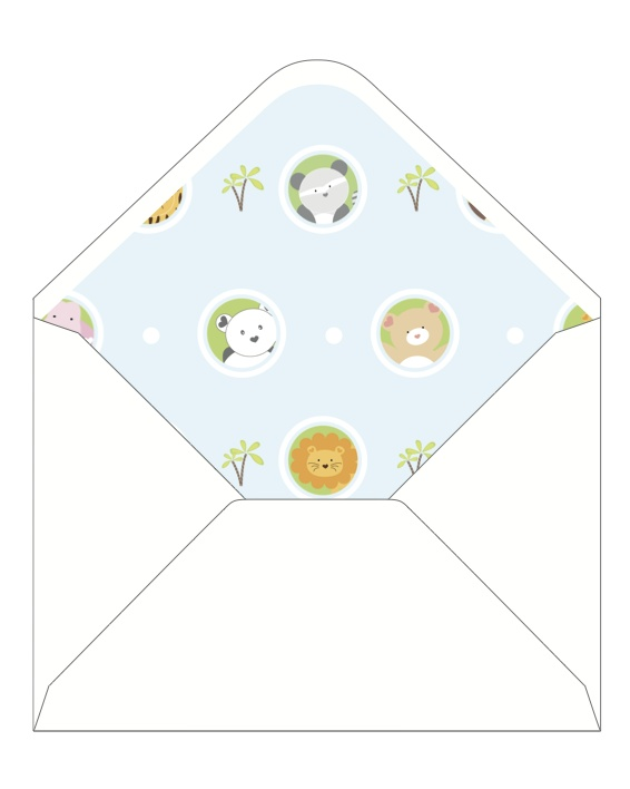 CocoCards: The luxurious touch - hand lined envelopes - baby announcement