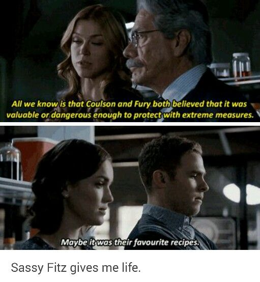 ''Maybe it was their favorite recipes.'' HAHAHAHAHAHA!! Fitz!!! :) / 2.16 : Afterlife