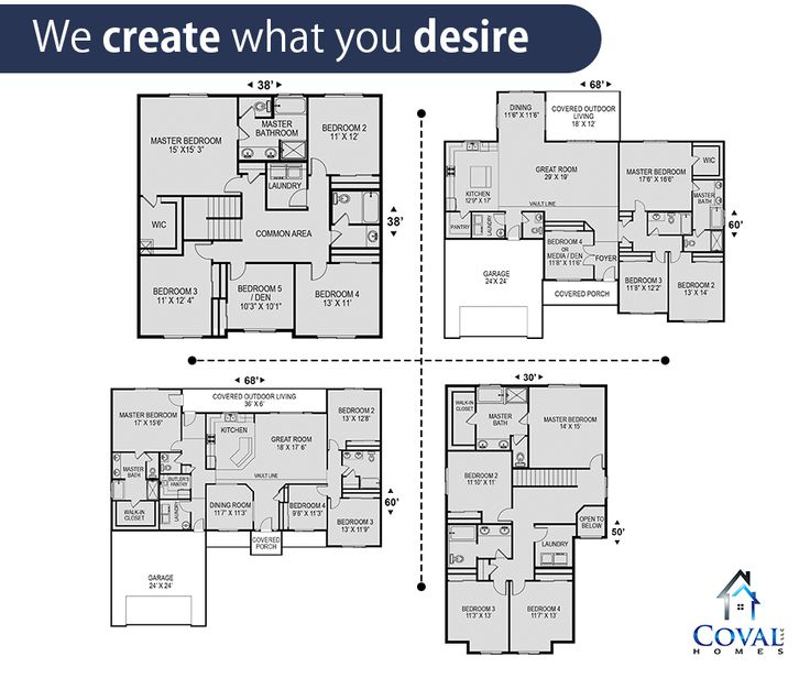 1000 images about coval homes custom design on pinterest for Custom home floor plans with cost to build