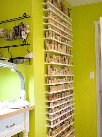 Rubber Stamp Storage Shelves