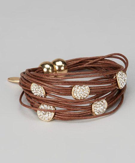 Brown Magnetic String Bracelet