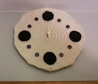 I crocheted a clock! Pattern coming soon.