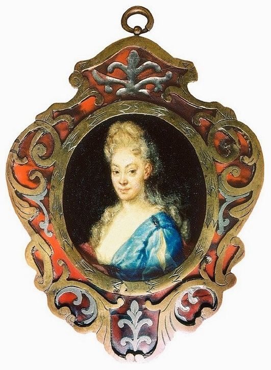 Miniature of Anna Orzelska by Anonymous from Poland, 1720s (PD-art/old), Muzeum Zamkowe w Pszczynie