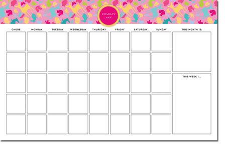 Animals Woodland Print Whitney English Chore Charts #backtoschool #calendar #organizing