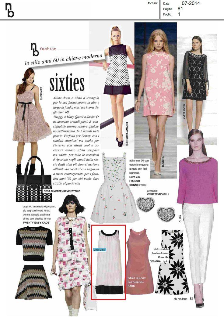 Lo stile anni 60 in chiave moderna. abito #missmiss #fashion su NB