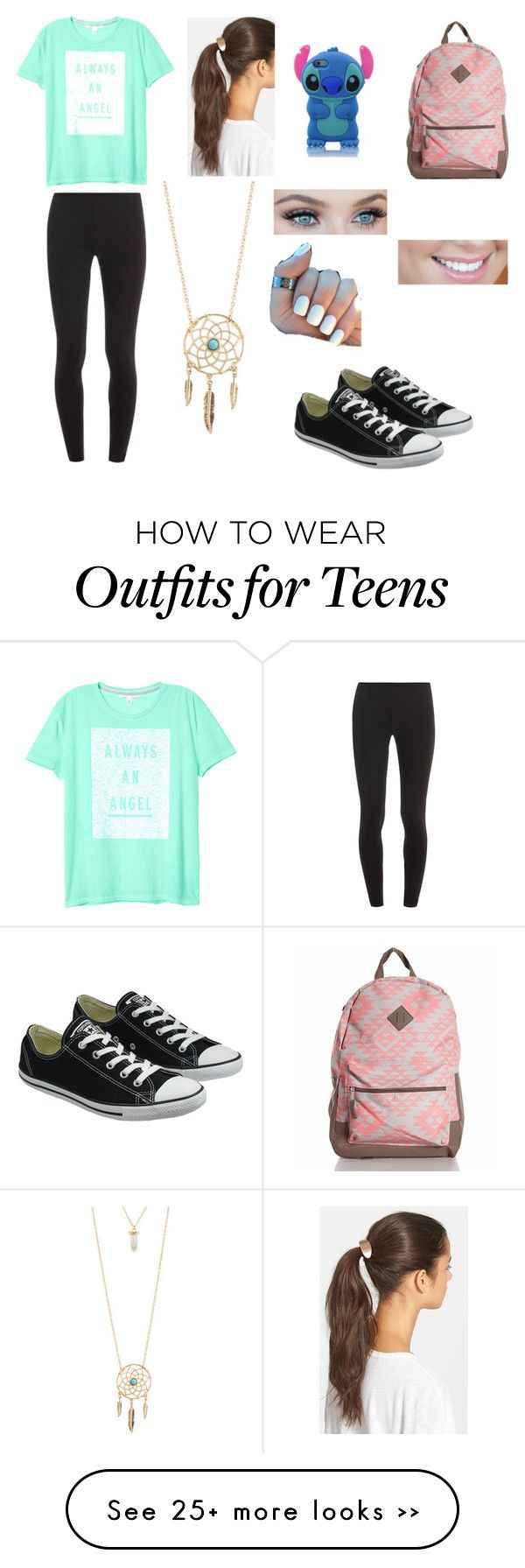 """Back To School Outfit For Teens!"" by pinktropicalparadise on Polyvore featuring Converse, Splendid, Victoria's Secret, Tasha and Aéropostale"