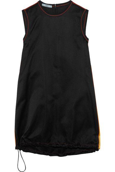 Prada | Paneled silk-satin mini dress | NET-A-PORTER.COM