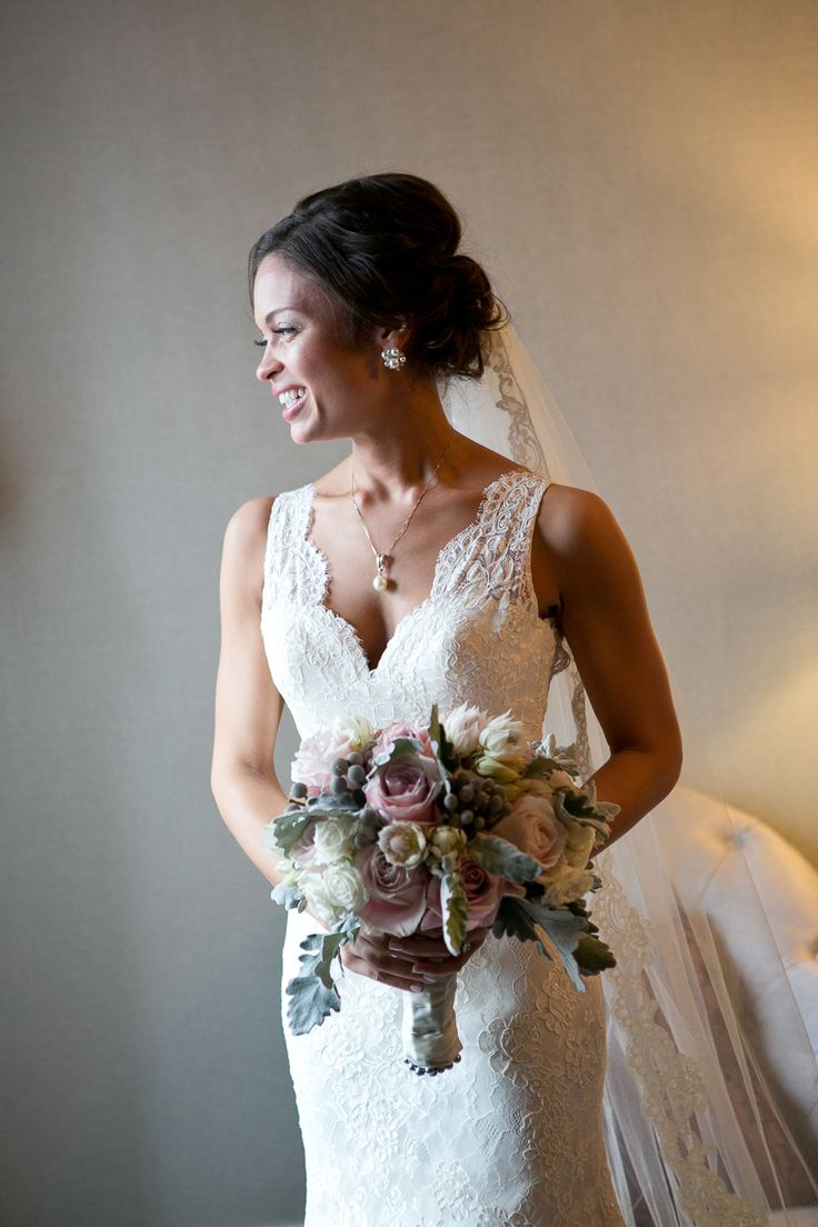 Bride wears Augusta Jones - Daphne