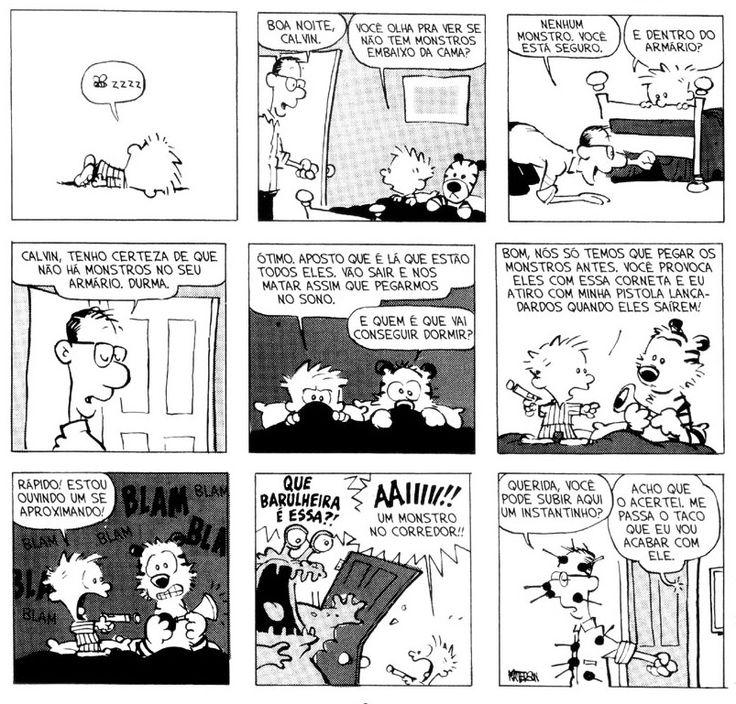 Tirinhas Calvin e Haroldo 7