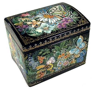 """Butterflies Of Russia"" Lacquer Art by N Lopatkina (Kholui)"