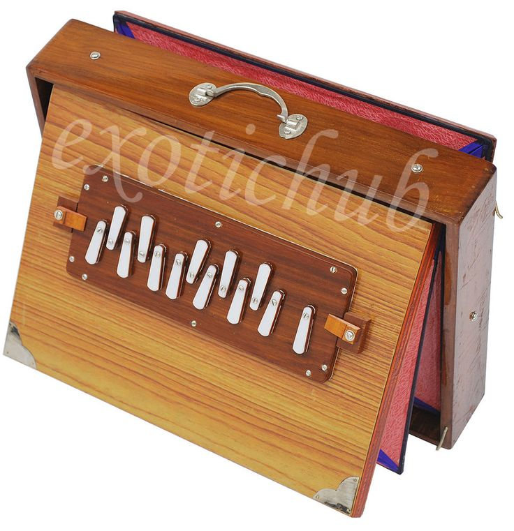"SHRUTI BOX~BIG SIZE (16"" X 12"" X 3"")~TEAK WOOD~SURPETI~440 Hz~YOGA~BHAJAN~EHS #KaaynaMusicals"