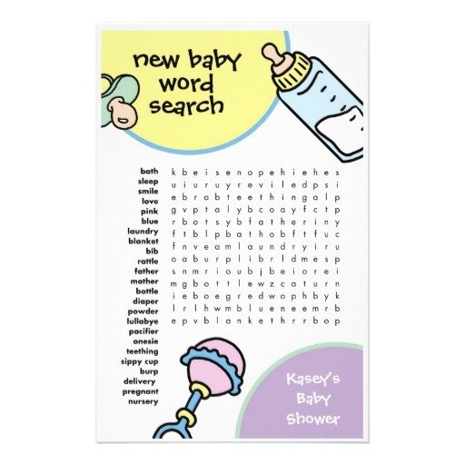 fun baby shower games word search game ideas party games baby shower
