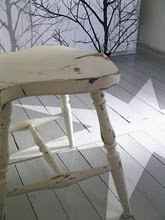white chair, white room