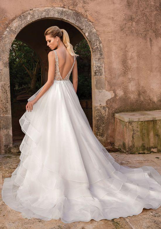 Style 88059 Romantic Ruffle Skirt Ball Gown Wedding Dress Types