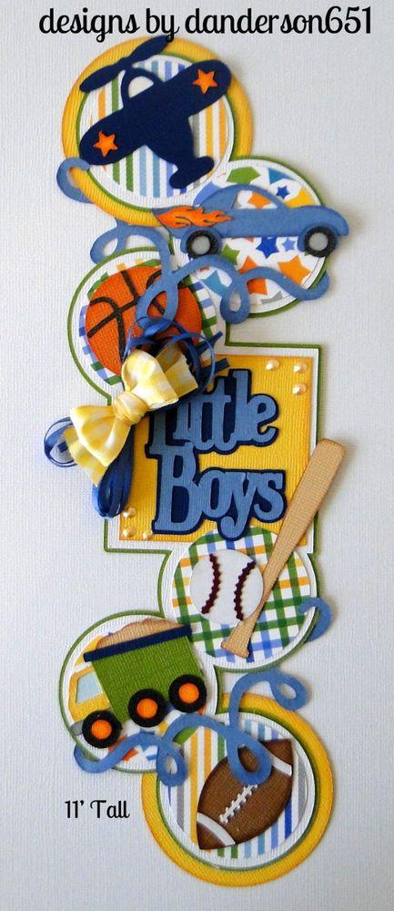 Boy Border Die Cuts Paper Piecing PreMade 4 Border Scrapbook Album danderson651