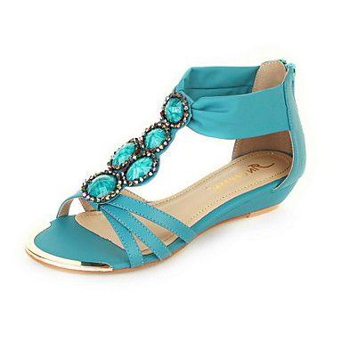Faux Leather Dames lage hak Comfort Sandalen Schoenen (meer kleuren) – EUR € 28.87