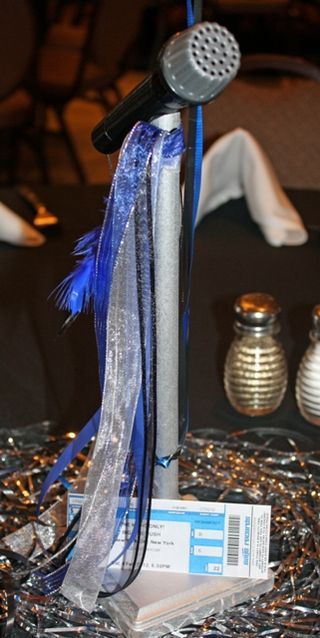 Microphone Centerpieces Follow Us On Bryson S Party