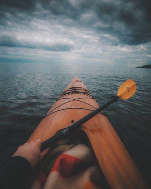 That Old Wooden Kayak Cut Like A Diamond Through Her Steel Blue Waters Re Post By Hold With Hope