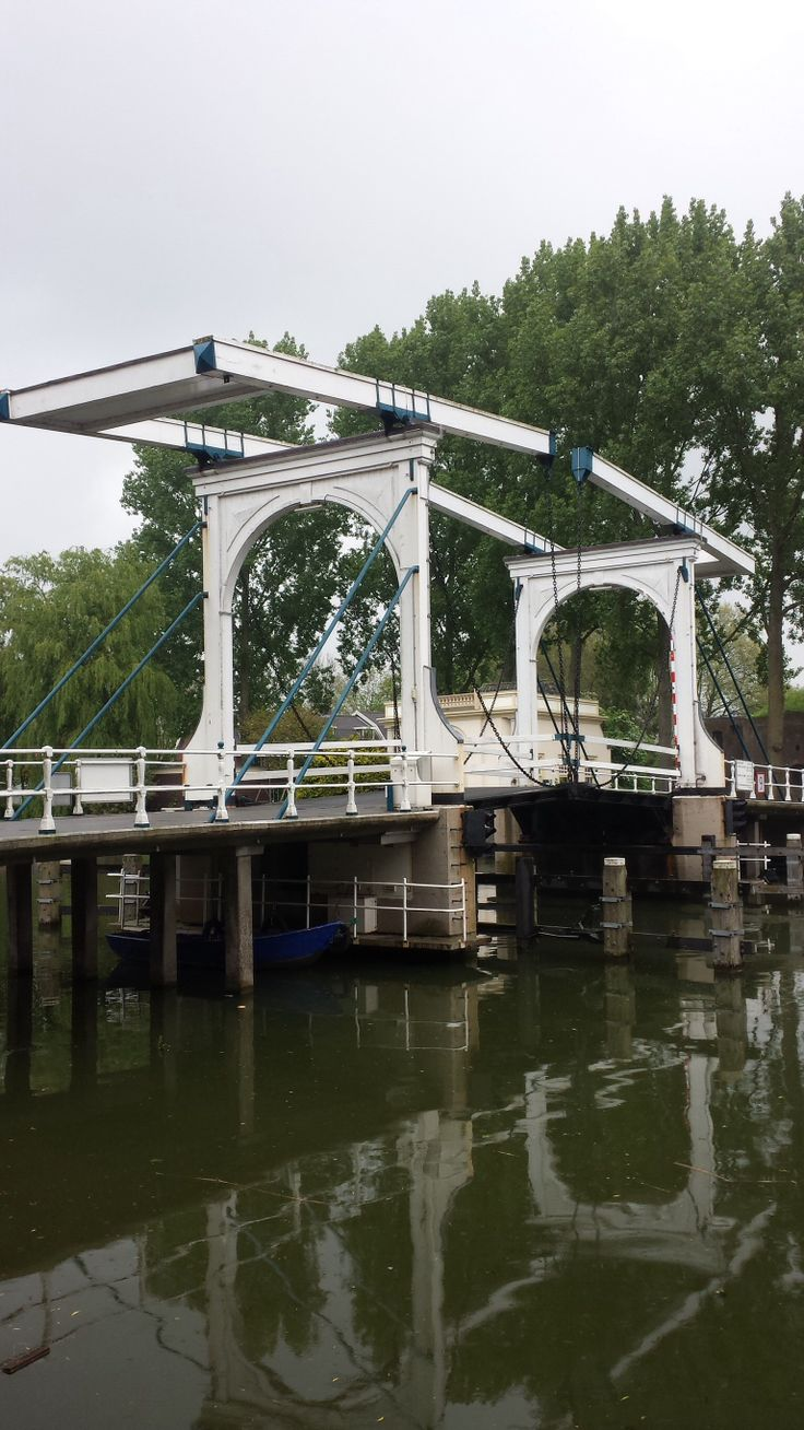 Ophaalbrug, Weesp, Noord-Holland.