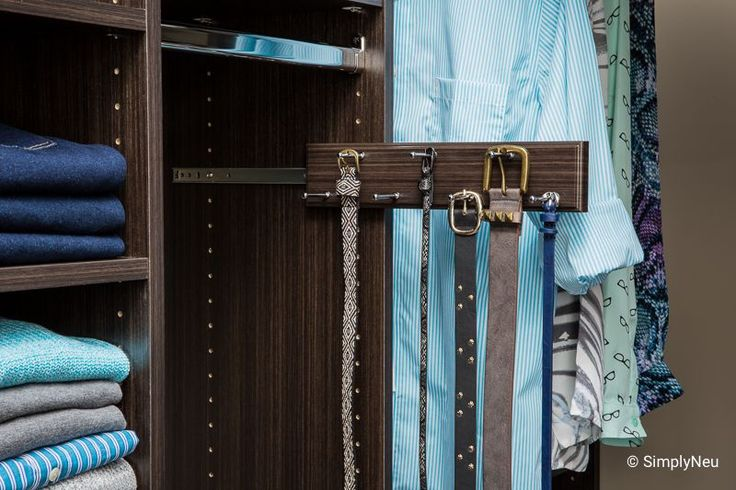 The 7 Peg Sliding Belt Rack Lets You Organize Belts By Size Or Color And