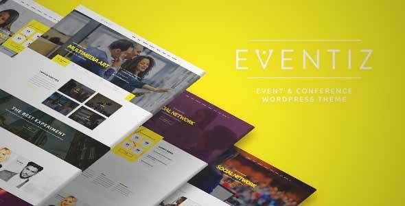Download and review of Eventiz - Conference Event Responsive WordPress Theme, one of the best Themeforest Entertainment themes