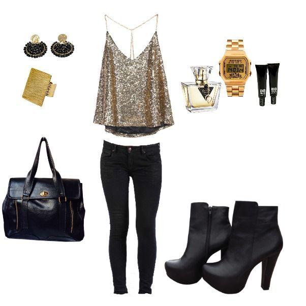 Outfit Friday Night heelsup, rockblack, gold, viernes,  en Colombia