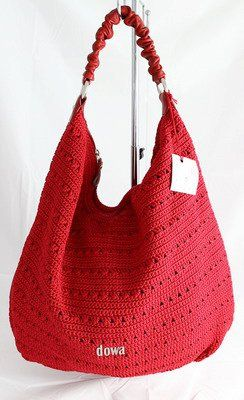 Great crochet bag. And love it in red.
