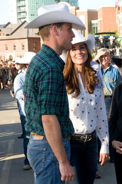 Kate Middleton Photos Photos - Prince William and Catherine, the Duke and Duchess of Cambridge in Calgary, Alberta on the eigth day of their tour of Canada. The royal couple travel the parade route of the the 99th annual Calgary Stampede. - The Royals at the Calgary Stampede