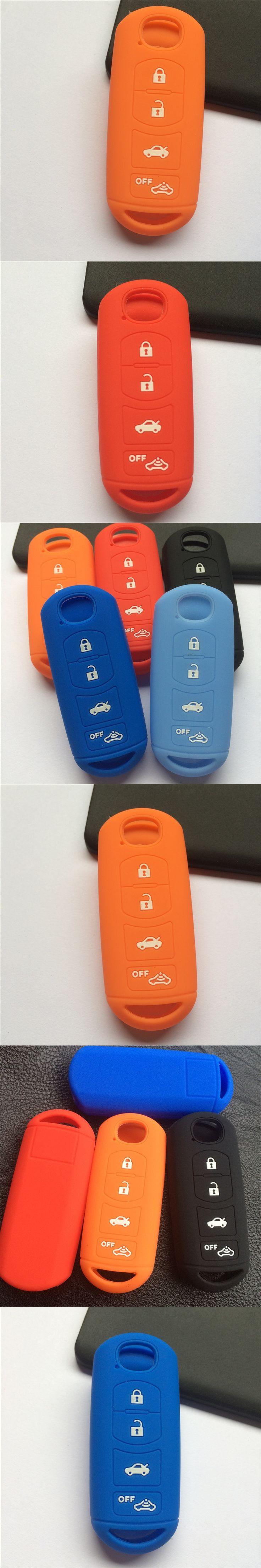Silicone rubber car key Case Cover for Mazda 3 5 6 8 CX5 CX7 CX9 M6 GT 2016 Smart 4 button remote key shell case