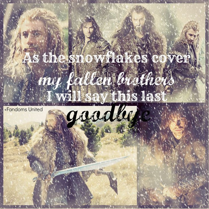 "An edit of Thorin, Fili, and Kili featuring lyrics from ""The Last Goodbye"" from ""The Hobbit: Battle of the Five Armies."""