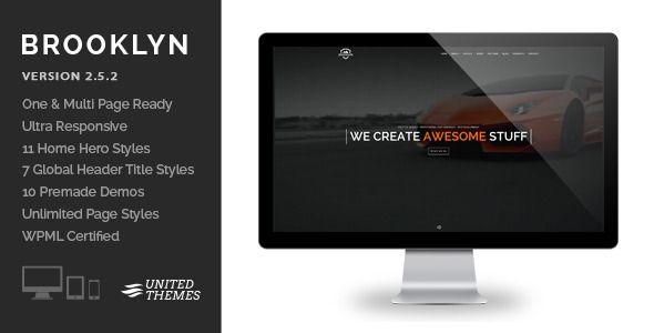 Brooklyn – Creative One Page Multi-Purpose Resposive WordPrtess Theme