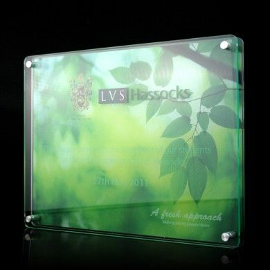 Acrylic Wall Plaques | Bespoke Quality Plaques | Gaudio | LVS Hassocks Opening Plaque
