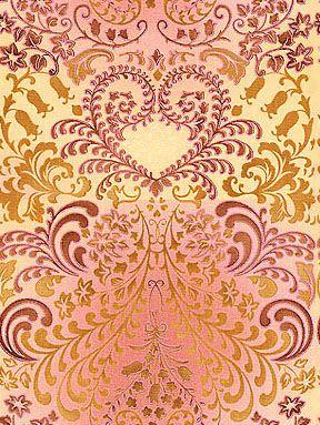 Lenagold - Коллекция фонов - Оранжево-фиолетовые растительные узоры