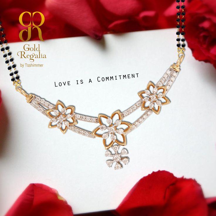 Marje- Love is a Commitment. MANGALSUTRA PENDANTS for more: https://goo.gl/fvhglB #MangalsutraPendants #Diamond #Gold #Ring #Bracelets #GoldJewelry