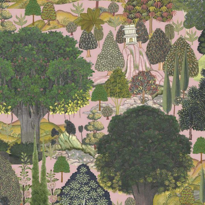 Jardin Sauvage Wallpaper Forest Wallpaper Tree Wallpaper Pink