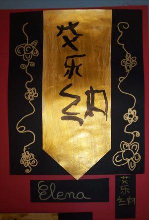 prénoms en ecriture chinoise