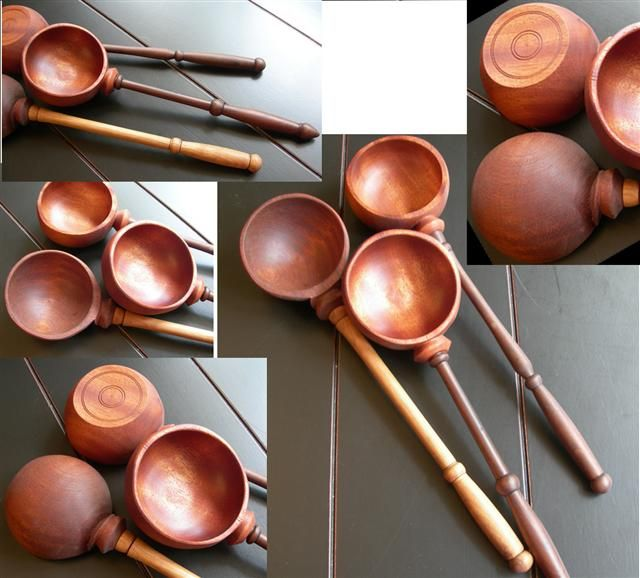coffee scoops done on lathe