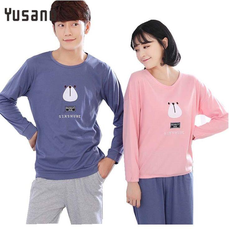 Yusano 2017 Couple Pajamas Long Sleeve Pyjamas Spring Autumn Pijamas For Lovers Women mens Sleepwear Men Sleepwear Homewear Sets #Affiliate