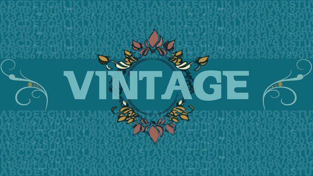 Tipografía VINTAGE from Minerva Díaz