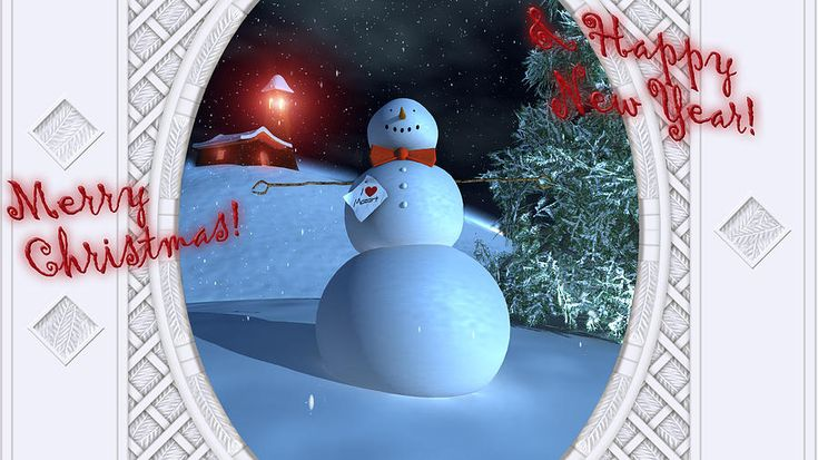 I Love Mozart Snowman Christmas and Happy New Year Greeting Card Aa