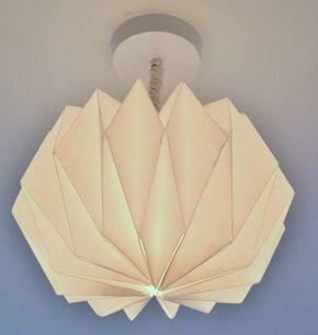 plafonnier original à faire soi-même composé d'un abat-jour origami