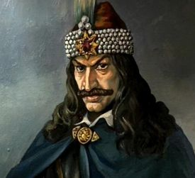 I have a huge history crush on Vlad Dracula, or Vlad the Impaler as he's better known.   The portrait of his that is so incredibly popular is inaccurate. It was painted by his enemies and have him the Hapsburg Lip, which was a trait he never had, so have this lovely fanart instead.