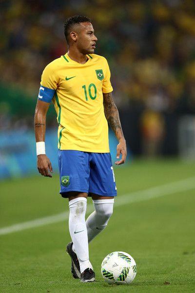 Neymar of Brazil seen during the Men's Football Final between Brazil and Germany…