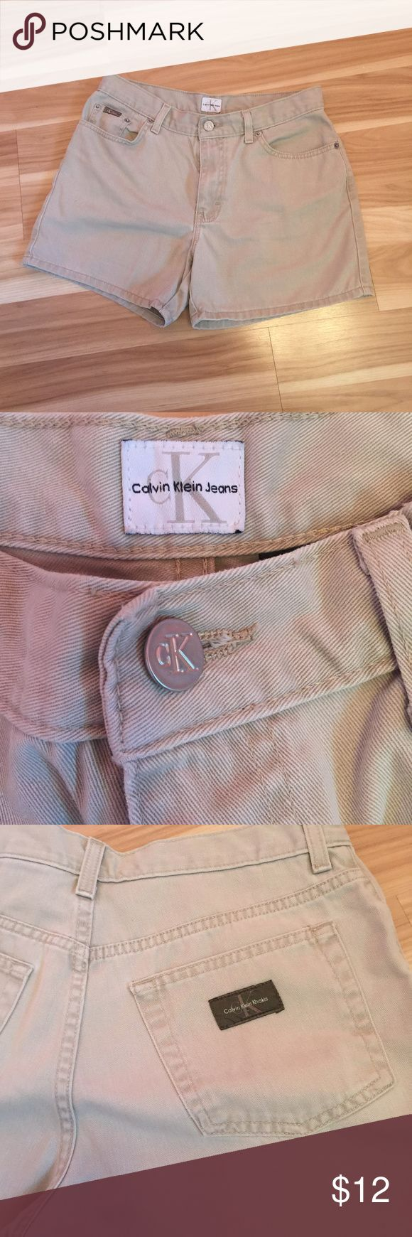 Khaki Calvin Klein Shorts Khaki Calvin Klein Shorts. No Stains / No damage. 100% cotton  No TRADES/ Reasonable Offers Lowball Offers will be declined Calvin Klein Jeans Shorts