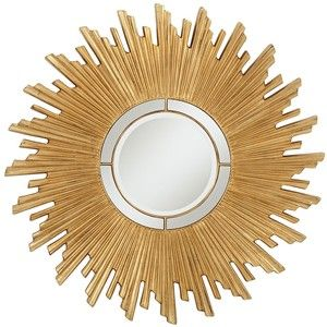 "Universal Lighting and Decor Tanudo Sun Gold 45 1/2"" Wide Round Sunburst Wall Mirror"